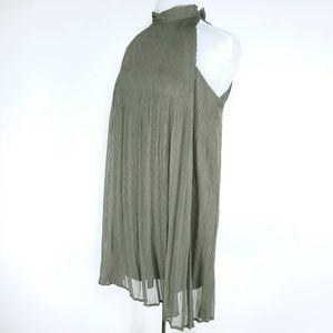 Taylor & Sage Medium High Neck Dress Green & Gold